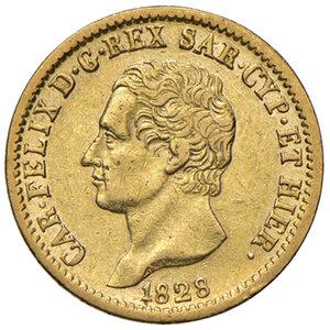 Savoia. Carlo Felice (1821-1831). Da 20 lire 1828 (Torino) AV. Pagani 56. MIR 1034l. q.SPL