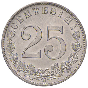 Savoia. Vittorio Emanuele III re d'Italia (1900-1946). Da 25 centesimi 1903 NI. Pagani 828. MIR 1152b.  Rara. FDC