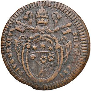 obverse: Foligno. Pio VI (1775-1799). Da 2 baiocchi 1795 anno XXI CU gr. 19,56. Muntoni 334. Berman 3101. Molto rara. BB
