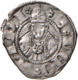 reverse: Guardiagrele. Ladislao di Durazzo (1391-1414). Bolognino AG gr. 0,90. D.A. 3. MIR 460. Raro. BB