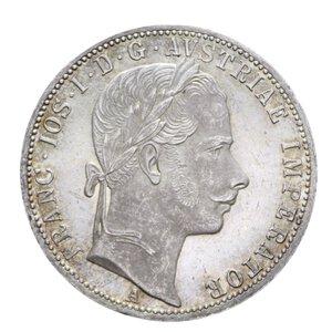 obverse: AUSTRIA FRANCESCO GIUSEPPE FIORINO 1861 A AG. 12,33 GR. FDC