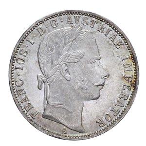 obverse: AUSTRIA FRANCESCO GIUSEPPE FIORINO 1861 A AG. 12,31 GR. qFDC