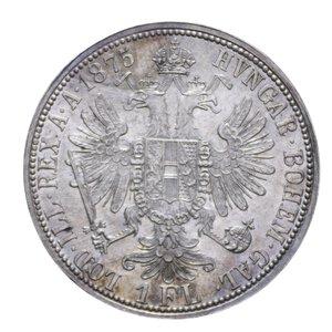 reverse: AUSTRIA FRANCESCO GIUSEPPE FIORINO 1875 AG. 12,34 GR. FDC