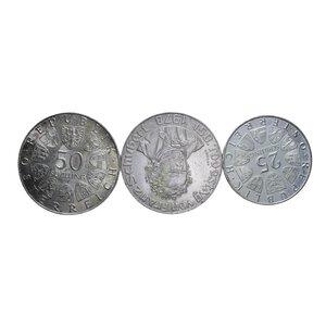 reverse: AUSTRIA LOTTO 3 MONETE IN AG. 53,04 GR. MED. SPL-FDC