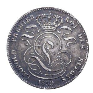 obverse: BELGIO LEOPOLDO I 5 CENTIMES 1850 CU 10,16 GR. BB