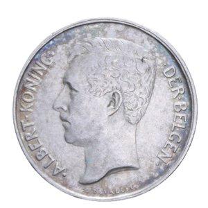 obverse: BELGIO ALBERT 2 FRANCHI 1911 AG. 9,99 GR. BB+