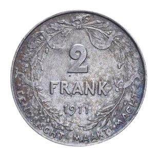 reverse: BELGIO ALBERT 2 FRANCHI 1911 AG. 9,99 GR. BB+