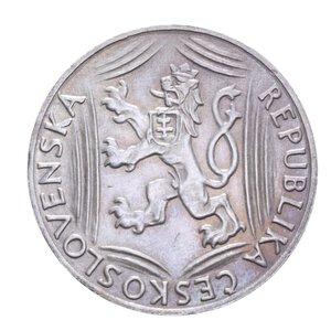 obverse: CECOSLOVACCHIA 100 KORUN 1948 INDIPENDENZA AG. 14,10 GR. qFDC
