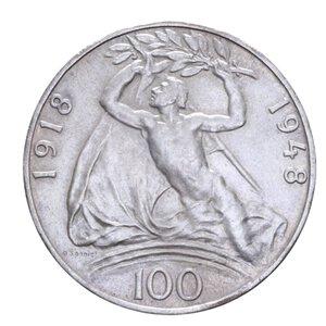 reverse: CECOSLOVACCHIA 100 KORUN 1948 INDIPENDENZA AG. 14,10 GR. qFDC