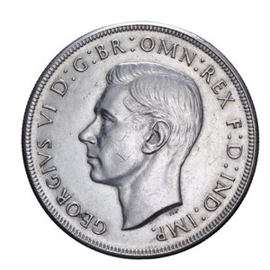 obverse: AUSTRALIA GIORGIO VI 1 CORONA 1937 AG. 28,29 GR. BB+/qSPL