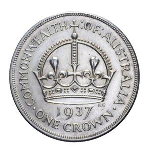 reverse: AUSTRALIA GIORGIO VI 1 CORONA 1937 AG. 28,29 GR. BB+/qSPL