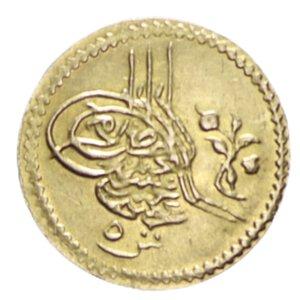 reverse: EGITTO ABDUL HAMID II 5 QIRSH 1293/6 (1880) NC AU 0,44 GR. SPL-FDC