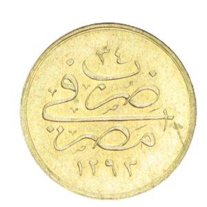 obverse: EGITTO ABDUL HAMID II 10 QIRSH 1293/34 (1908) AU 0,83GR. qSPL