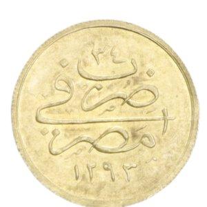 obverse: EGITTO ABDUL HAMID II 5 QIRSH 1293/34 (1908) AU 0,42 GR. SPL