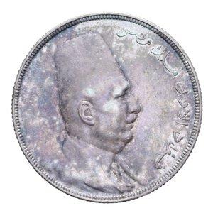 obverse: EGITTO FUAD I 20 PIASTRE 1923 AG. 27,89 GR. SPL