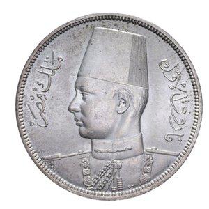 obverse: EGITTO FAROUK MEZZA PIASTRA 1939 AG. 14 GR. SPL-FDC