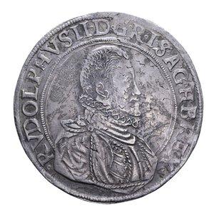 obverse: AUSTRIA RODOLFO II TALLERO 1583 JOACHIMSTHAL RRR AG. 28,73 GR. BB+