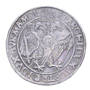 reverse: AUSTRIA RODOLFO II TALLERO 1583 JOACHIMSTHAL RRR AG. 28,73 GR. BB+