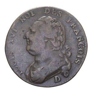 obverse: FRANCIA LUIGI XVI 12 DENARI 1792 CU 11,55 GR. qBB