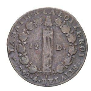 reverse: FRANCIA LUIGI XVI 12 DENARI 1792 CU 11,55 GR. qBB