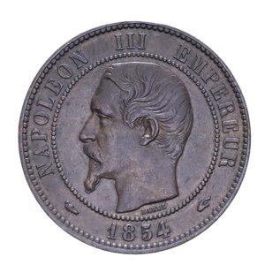 obverse: FRANCIA NAPOLEONE III 10 CENTIMES 1854 A CU 10,07 GR. BB-SPL