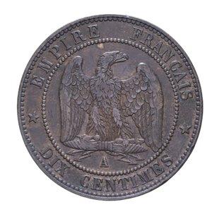reverse: FRANCIA NAPOLEONE III 10 CENTIMES 1854 A CU 10,07 GR. BB-SPL