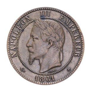 obverse: FRANCIA NAPOLEONE III 10 CENTIMES 1861 CU 10,05 GR. BB-SPL