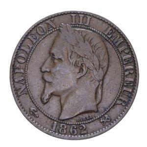obverse: FRANCIA NAPOLEONE III 5 CENTIMES 1862 K CU 4,90 GR. BB