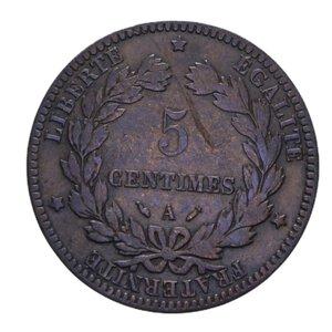 reverse: FRANCIA NAPOLEONE III 5 CENTIMES 1862 K CU 4,90 GR. BB