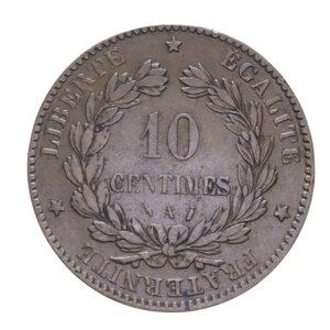 reverse: FRANCIA REPUBBLICA 10 CENTIMES 1886 A CU 10,12 GR. BB