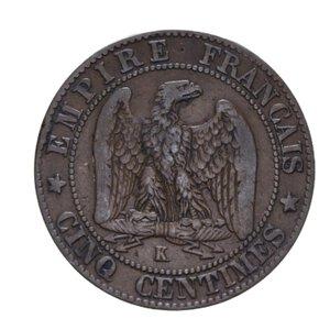 reverse: FRANCIA REPUBBLICA 5 CENTIMES 1891 A CU 4,78 GR. BB