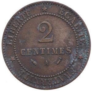 reverse: FRANCIA REPUBBLICA 2 CENTIMES 1894 A CU 1,93 GR. BB+