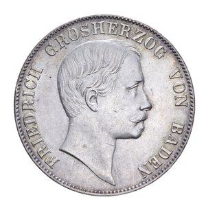 obverse: GERMANIA BADEN FRIEDRICH I THALER 1862 AG. 18,15 GR. SPL