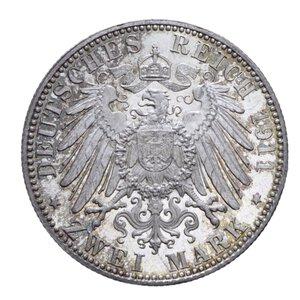 reverse: GERMANIA BAVARIA LUITPOLD 2 MARCHI 1911 AG. 11,10 GR. FDC