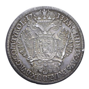 reverse: AUSTRIA CARLO VI TALLERO 1713 HALL AG. 28,63 GR. SPL+
