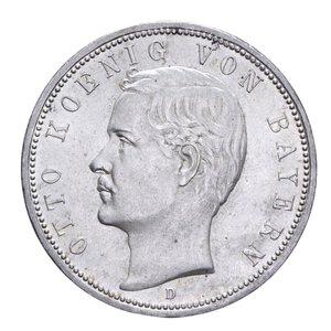 obverse: GERMANIA BAVARIA OTTO 5 MARCHI 1913 AG. 27,77 GR. SPL+