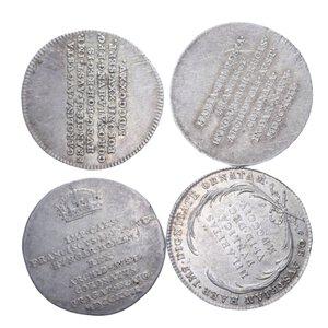 obverse: AUSTRIA FRANCESCO II (1792-1835) LOTTO 4 MONETE IN AG. VARIE CONSERVAZIONI