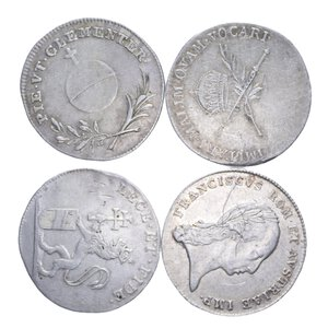 reverse: AUSTRIA FRANCESCO II (1792-1835) LOTTO 4 MONETE IN AG. VARIE CONSERVAZIONI