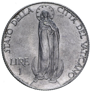 reverse: PIO XII (1939-1958) 1 LIRA 1941 AC. 7,92 GR. FDC