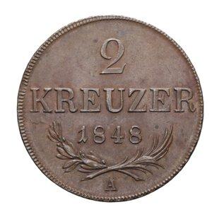 reverse: AUSTRIA 2 KREUZER 1848 A CU 17,80 GR. SPL+