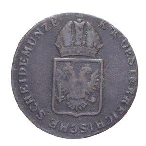 obverse: AUSTRIA 1 KREUZER 1816 S MODULO RIDOTTO CU 7,59 GR. qBB