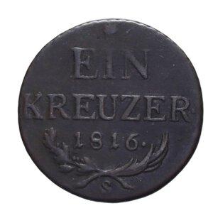 reverse: AUSTRIA 1 KREUZER 1816 S MODULO RIDOTTO CU 7,59 GR. qBB