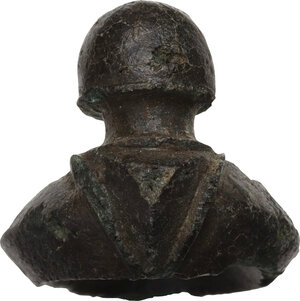 reverse: Bronze belt buckle.  27x23 mm.  Germanic 2nd-1st century BC