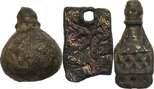 obverse: Lot of 3 bronze items.  Roman to migration period