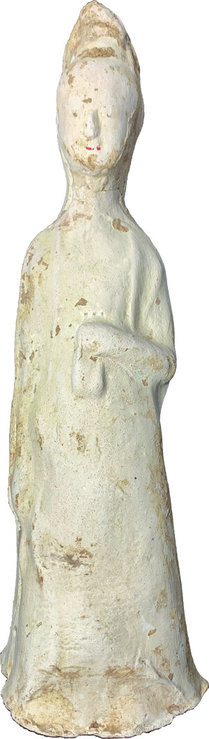 obverse: China, Tang woman pottery statue.  22.5 cm