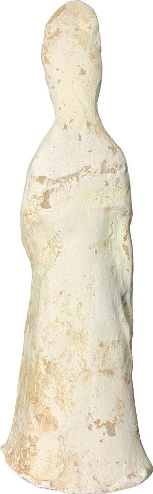 reverse: China, Tang woman pottery statue.  22.5 cm