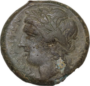 obverse: Samnium, Southern Latium and Northern Campania, Cales. AE 19 mm, 265-240 BC