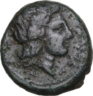 obverse: Central and Southern Campania, Neapolis. AE 17 mm, 300-275 BC