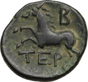 reverse: Pisidia, Termessos.  Pseudo-autonomous issue, 1st century BC.. AE 18 mm, Dated CY 1 (71/0 BC)