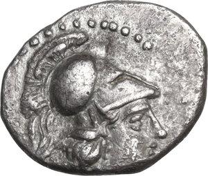 obverse: Cilicia, Soloi. AR Obol, 386-333 BC